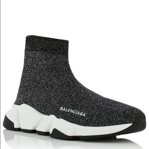 Balenciaga Lurex Speed Trainer Sneaker